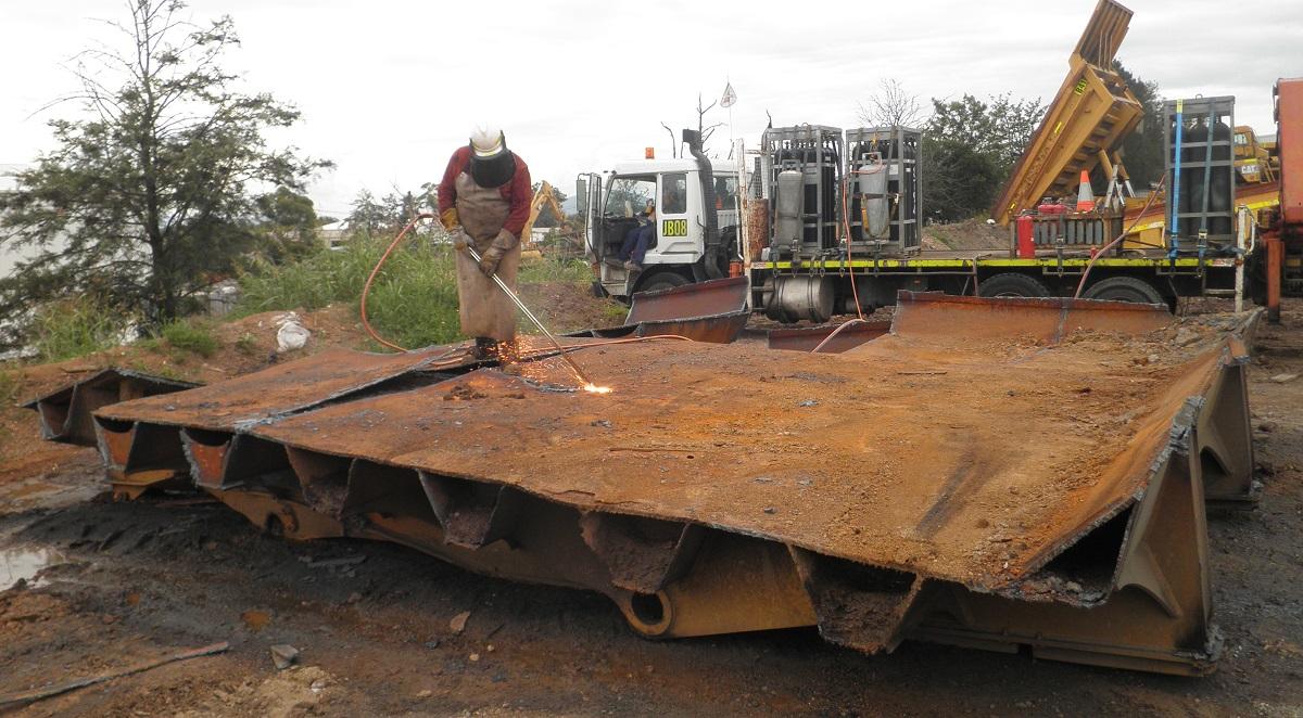 Scraping of 797 CAT bodies
