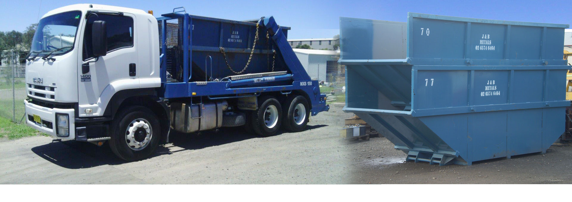 J&B Metals has the most reliable and professional bin collection service in the Hunter Valley